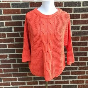 H&M Oversize Cable Knit Dolman Sleeve Sweater